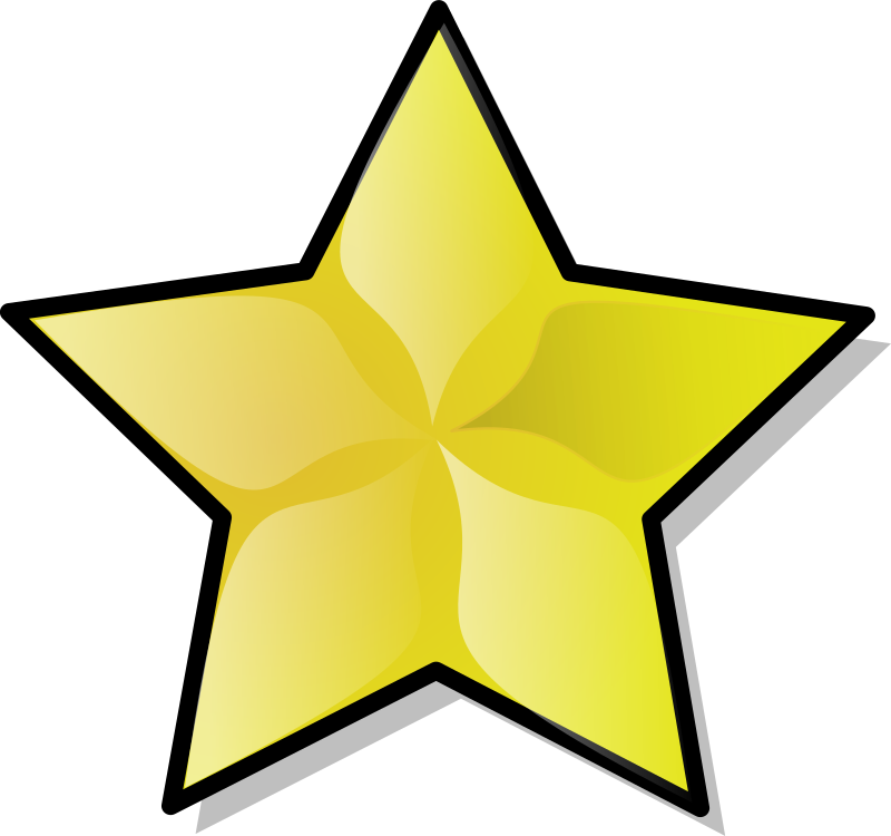 Star by nicubunu - simple golden star