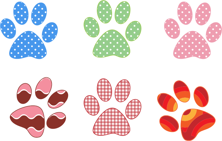 Pictures Of Small Dog Paw Prints