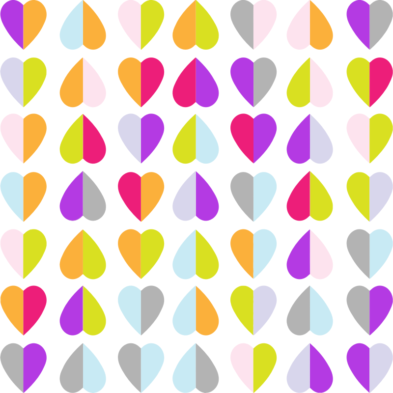 clipart colorful hearts pattern wallpaper
