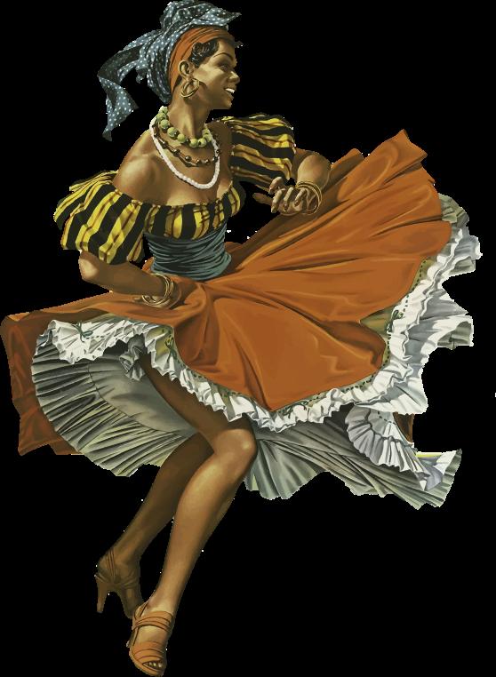 Clipart - Vintage Caribbean Dancing Woman