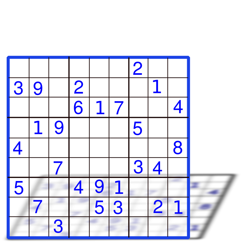 Clipart Sudoku With Numbers