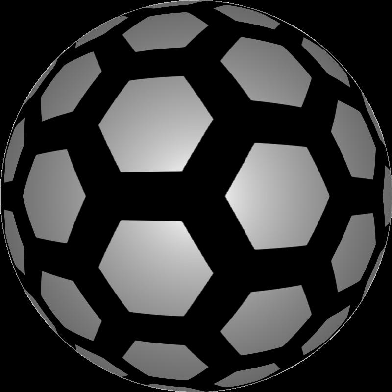 Clipart - Hexagon ball