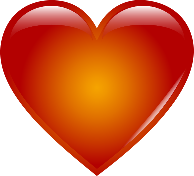 clipart red heart