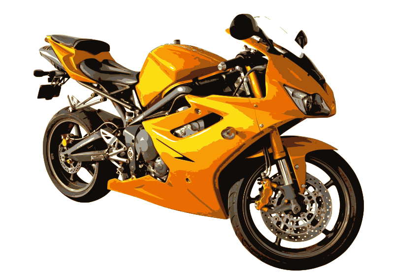 Clipart - Moto 5 amarilla Yellow