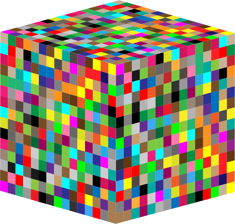 clipart 3d multicolored cube. Black Bedroom Furniture Sets. Home Design Ideas