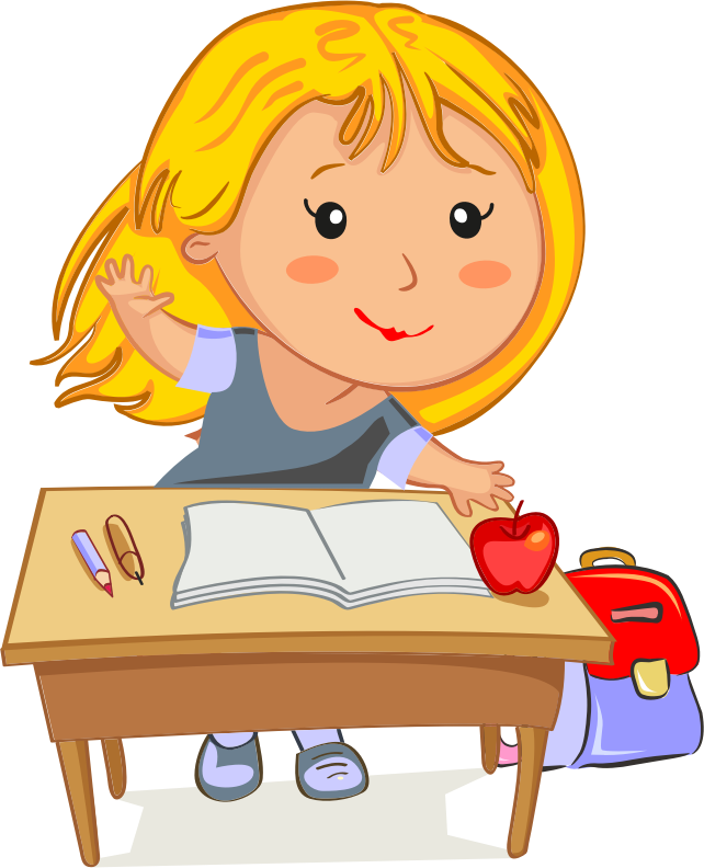 Girl Going To School Clipart