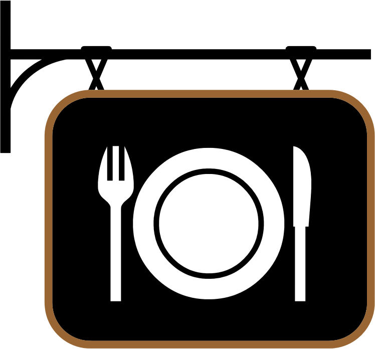 Clipart - Restaurant Sign Black