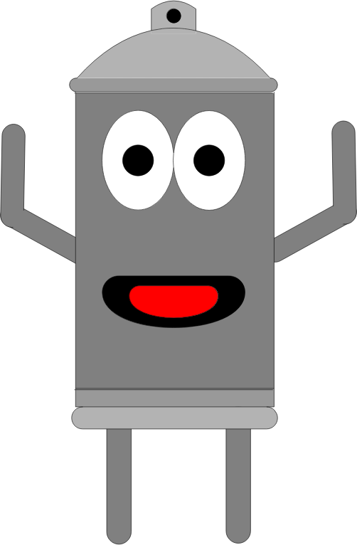 Clipart - Anthropomorphic Spray Can