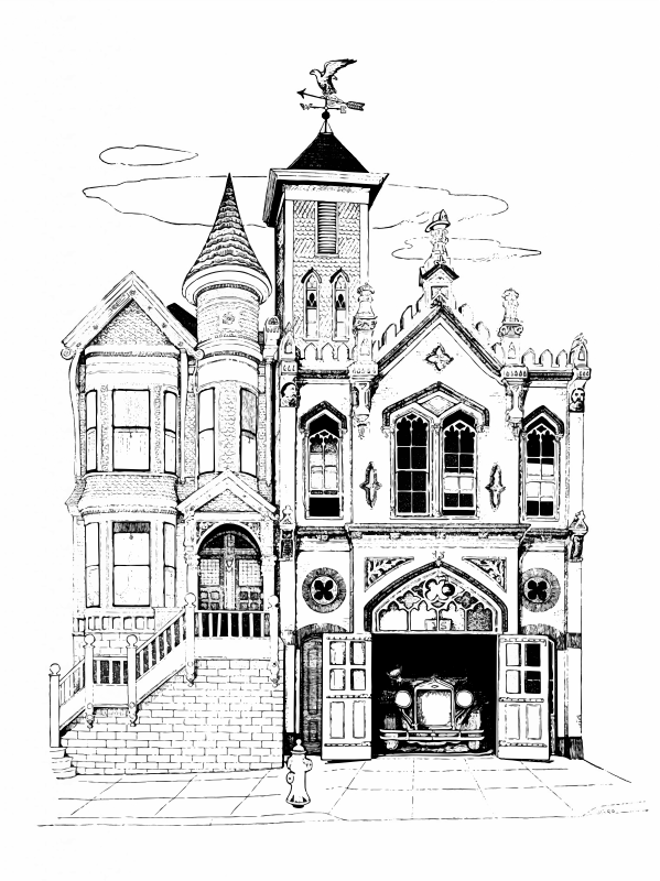 Clipart Vintage Firehouse