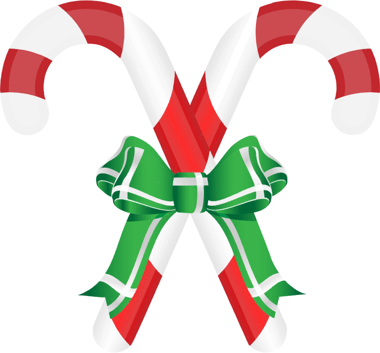 Clipart - Candy Canes Ribbon