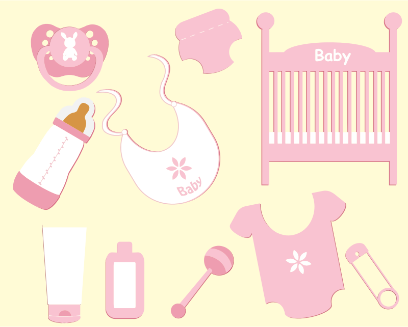 Clipart - Baby Girl Accessories