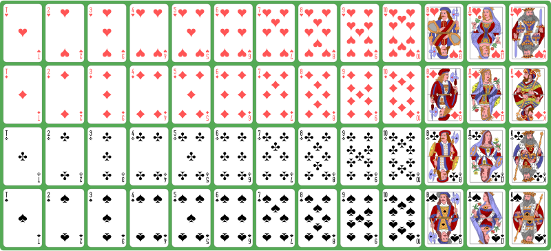 Clipart - Full Deck Of Ornate Playing Cards