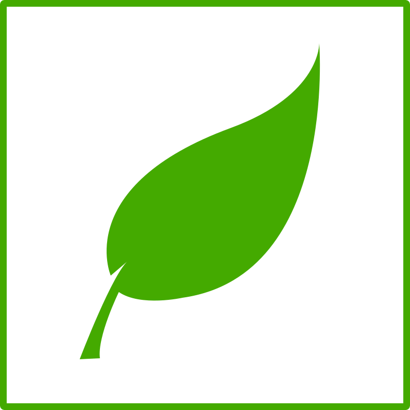 Clipart - Green Leaf with Border