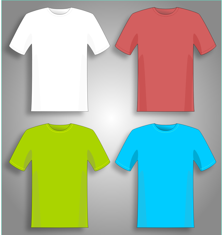 Clipart - Colorful T-shirts