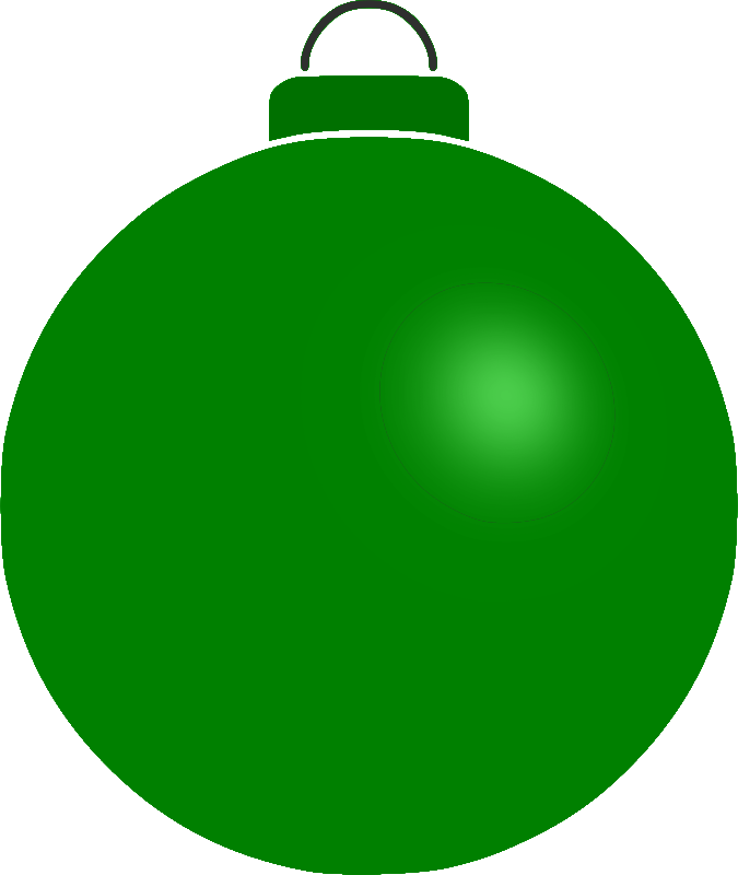 Clipart - Plain bauble 10 Green Christmas Ornament