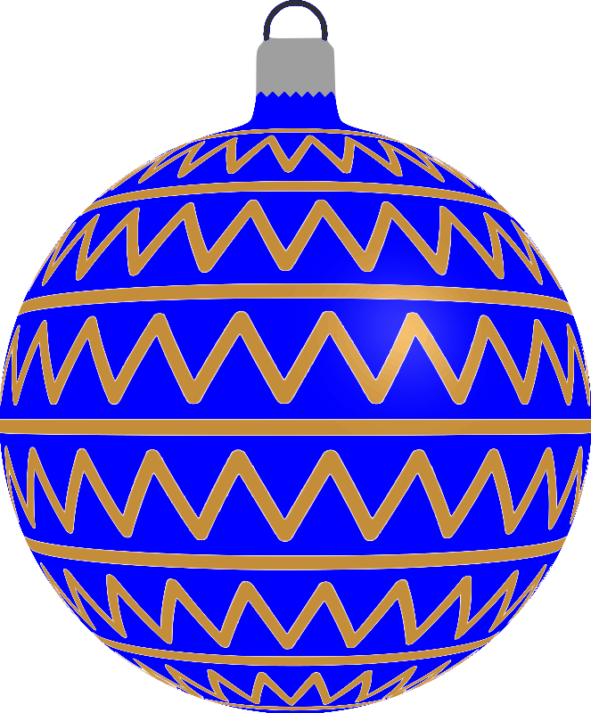 Clipart - Patterned bauble 2 (blue)