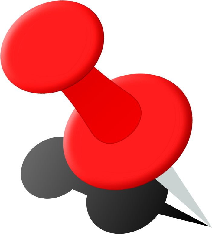 Clipart - Push Pin 2b