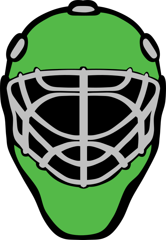 Goalie_mask_simple by Gerald_G - Green hockey mask.