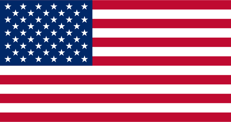 Flag of the United States by papapishu - Source: http://commons.wikimedia.org/wiki/File:Flag_of_the_United_States.svg Comment on the oldest version on Commons: (from www.openclipart.org/clipart/signs_and_symbols/flags/america/united_states.svg, by Daniel McRae, PD) In newer versions, colors are a bit changed and file size is optimized (36 KB to 2 KB).