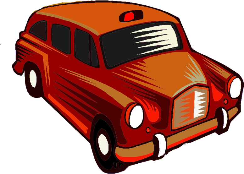 Clipart Red Taxi Cab