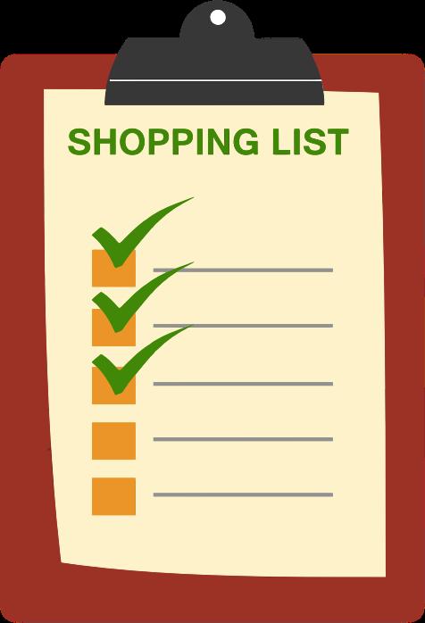 Clipart - Shopping List Clipboard