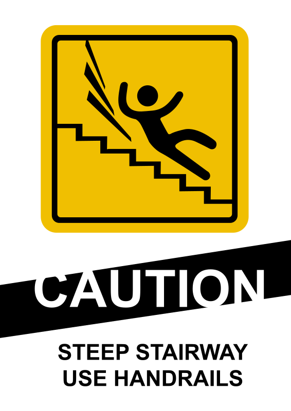 Clipart - CAUTION Steep Stairs