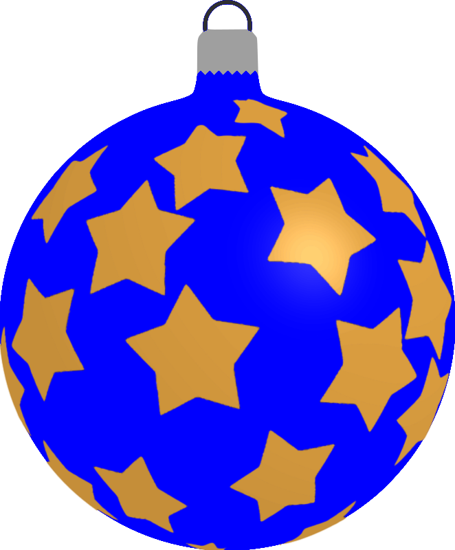 Clipart - Patterned bauble 5 (blue)