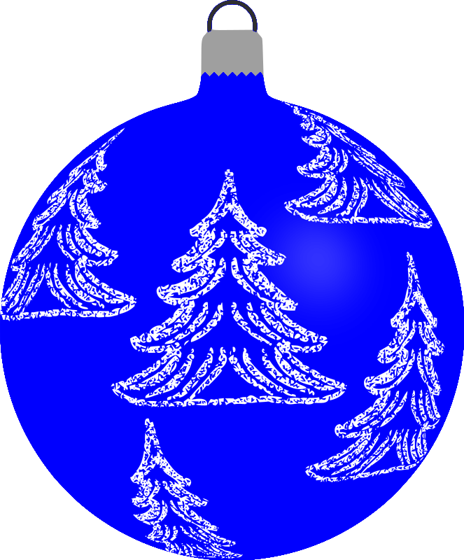 Clipart - Patterned bauble 6 (blue)