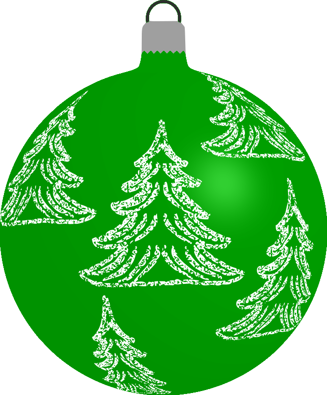 Clipart - Patterned bauble 6 (green)