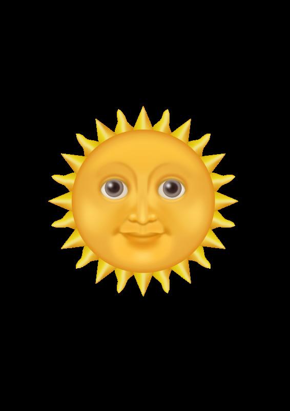 clipart sun emote Happy Cloud Clip Art happy summer sun clipart