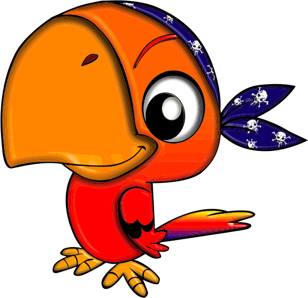 Clipart pirate parrot