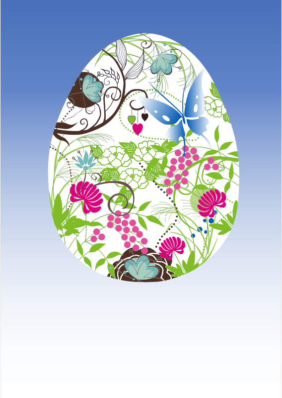 Clipart - Ornate Decorated Easter Egg