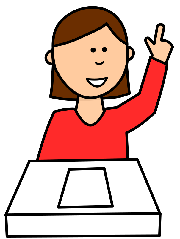 Clipart - Student asking question