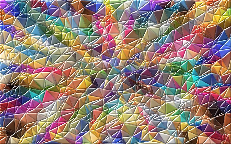 Clipart Colorful Low Poly Wallpaper Enhanced 2