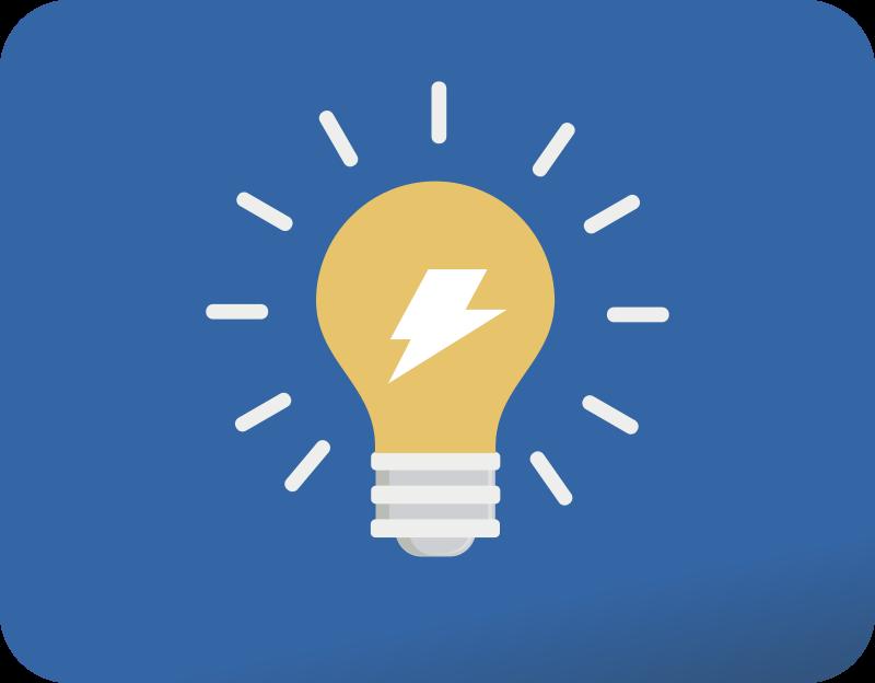 Clipart - Bulb flat icon