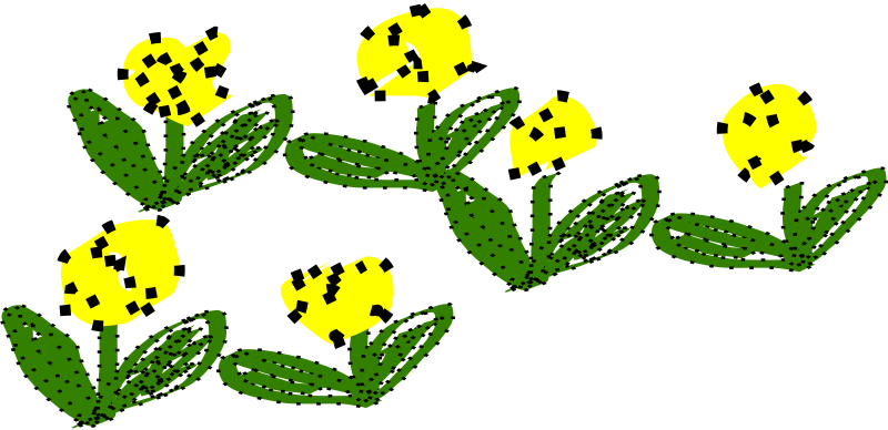 Clipart - yellow flowers