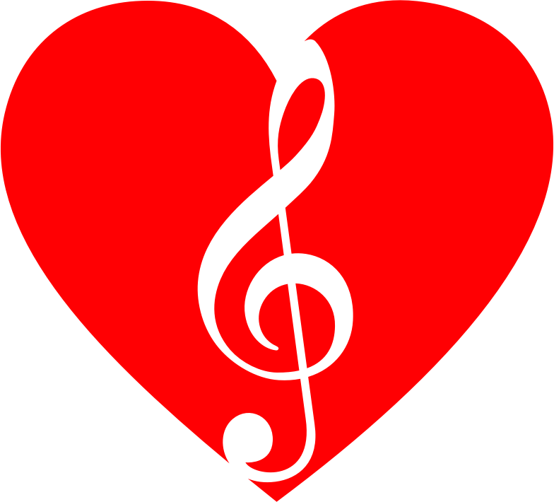 clipart musical heart 2 musical notes clip art borders music notes clip art free
