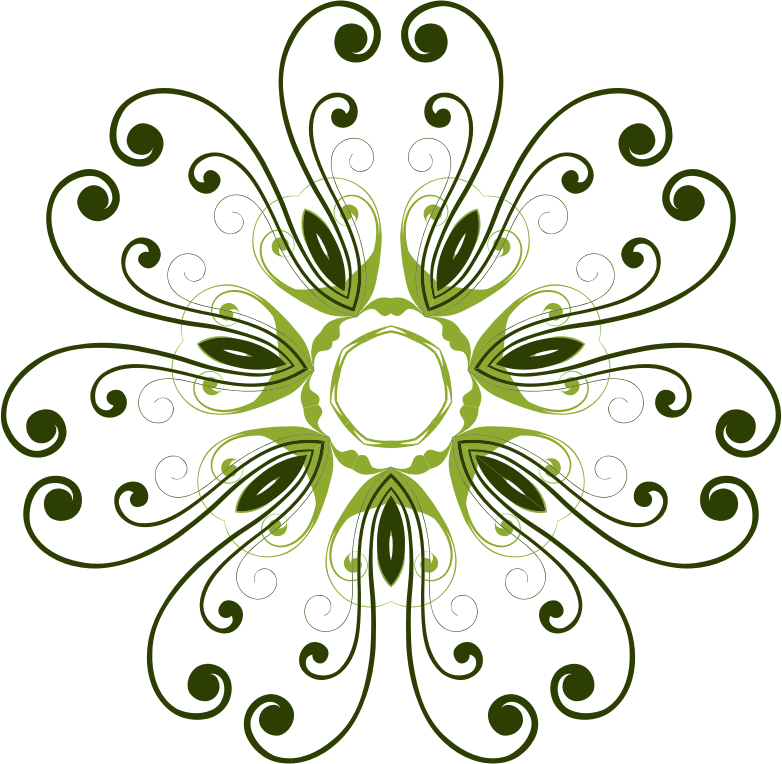 Clipart Flourish Flower Design