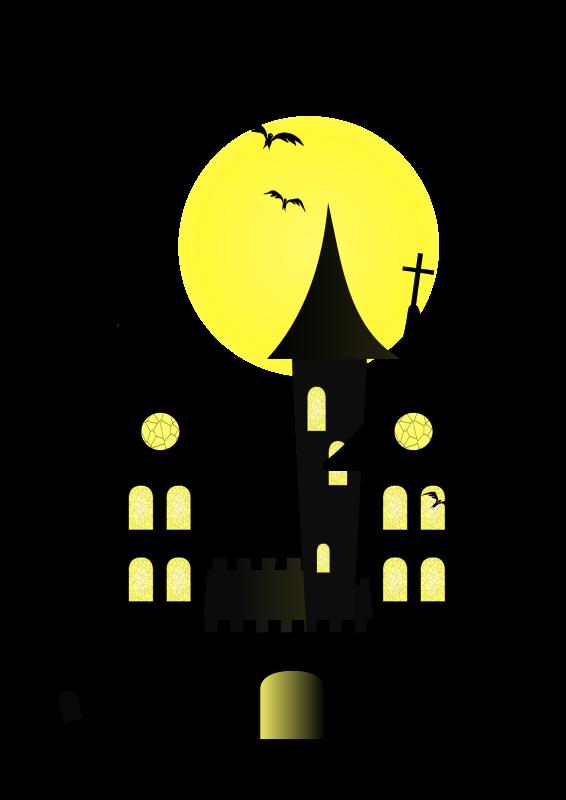 Clipart - Halloween Castle