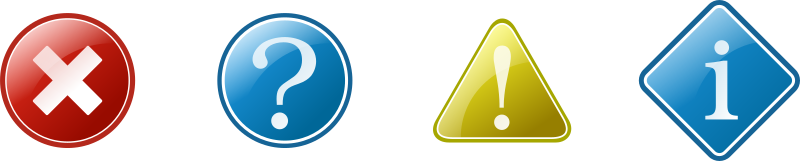 information icons set by kuba - Question, Exclamation, Information and Error Icons.