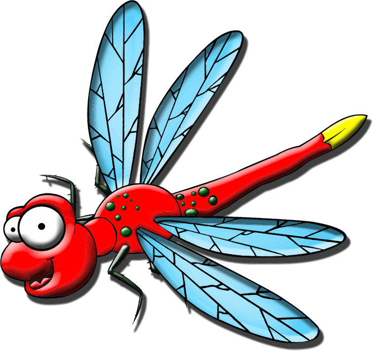 Clipart - Cartoon Dragonfly