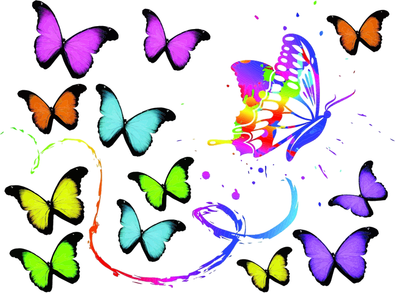 Clipart - Butterfly Painting