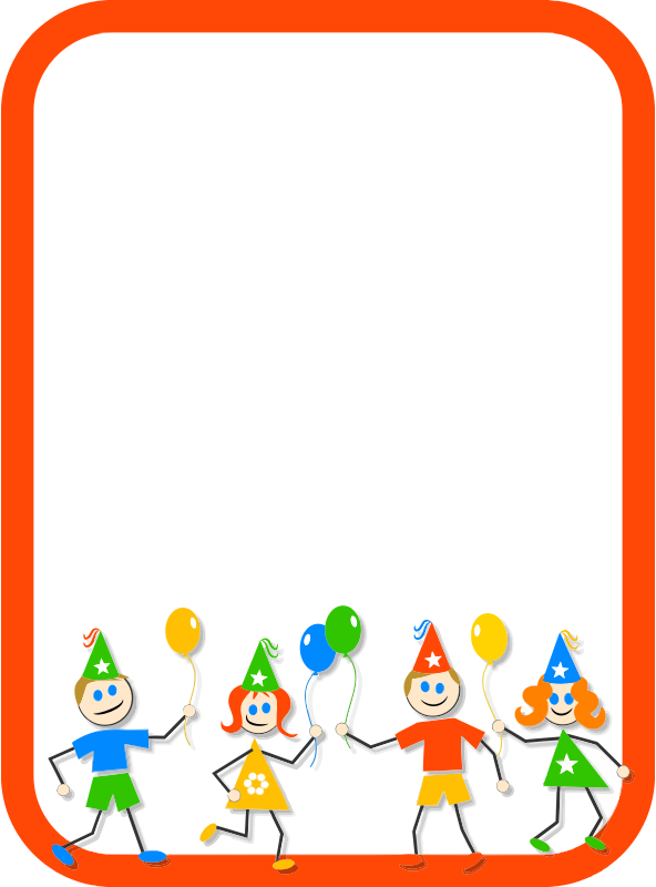 Clipart - Kids Party Border