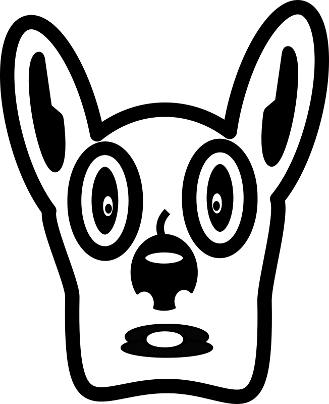 Cartoon Dog Face by FunDraw_dot_com - A cute cartoon dog head