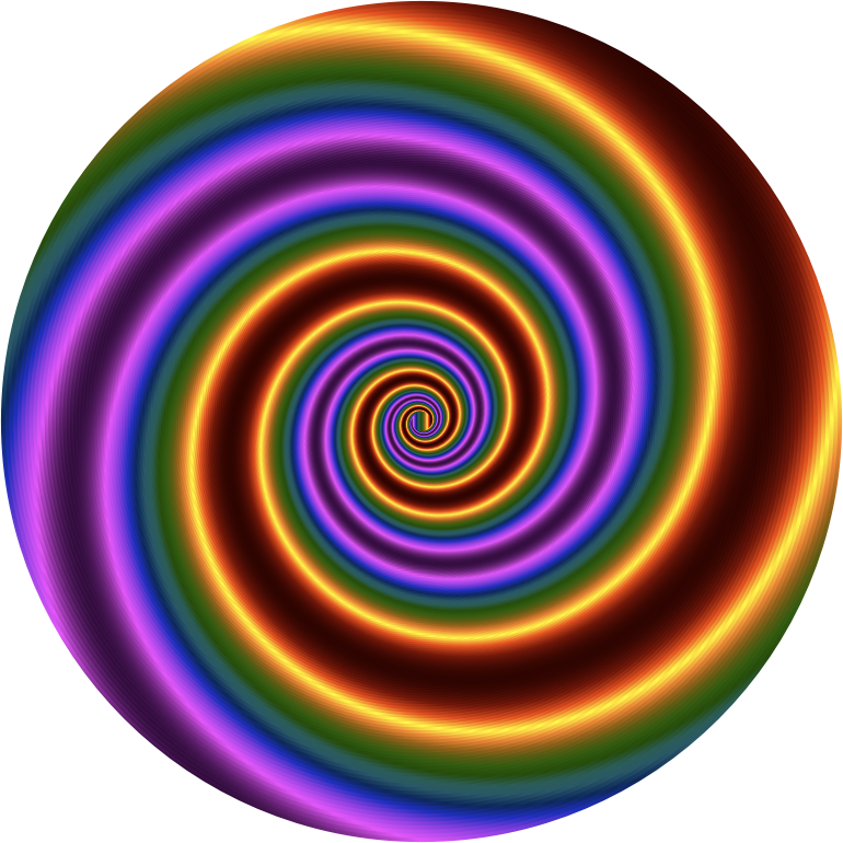 Clipart - Colorful Swirling Vortex 4