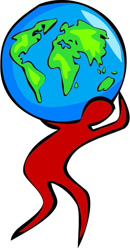 Clipart Carrying The World