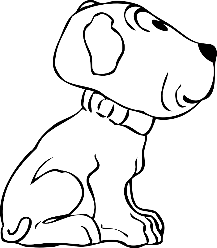 puppy side view by johnny_automatic - a side view of a puppy dog from a U.S. patent drawing