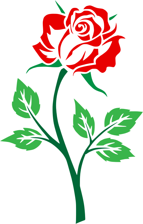 Clipart - Colored Rose