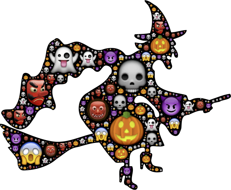 Clipart - Colorful Halloween Witch