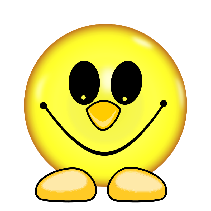 Clipart - Smiley Face With Feet